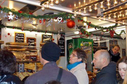 Flammkuchen Weihnachtsmarkt Straßburg
