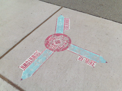 Santa Fe rail trail sidewalk map