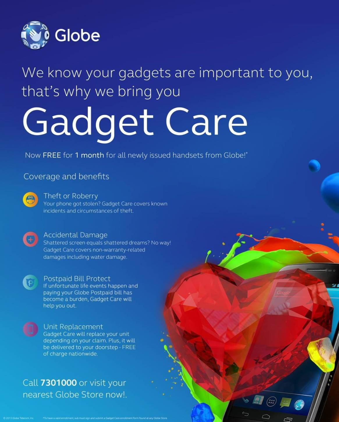 Globe Gadget Care Poster