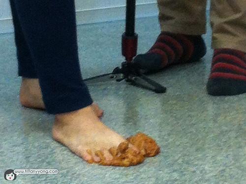 step on poop