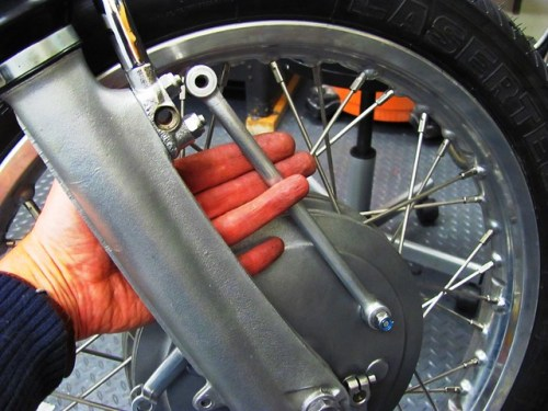 Connecting Front Brake Arm