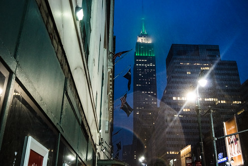 Empire State Building, green lit by Dan Nguyen @ New York City