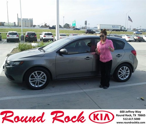 Thank you to Ashley Smith on your new 2012 #Kia #Forte 5-Door from Eric Armendariz and everyone at Round Rock Kia! #RollingInStyle by RoundRockKia