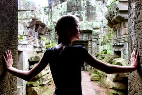 Like Angelina Jolie at Ta Prohm, Angkor Wat.