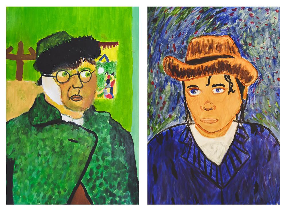 Portrait Paintings Art Brut Sessions