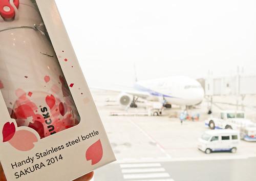 羽田空港でも記念撮影