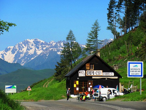 Pyrenees Mountains Coffee Stop in France