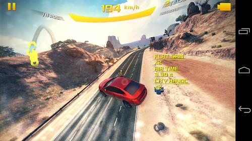 เกม Asphalt 8: Airborne บน LG Nexus 5