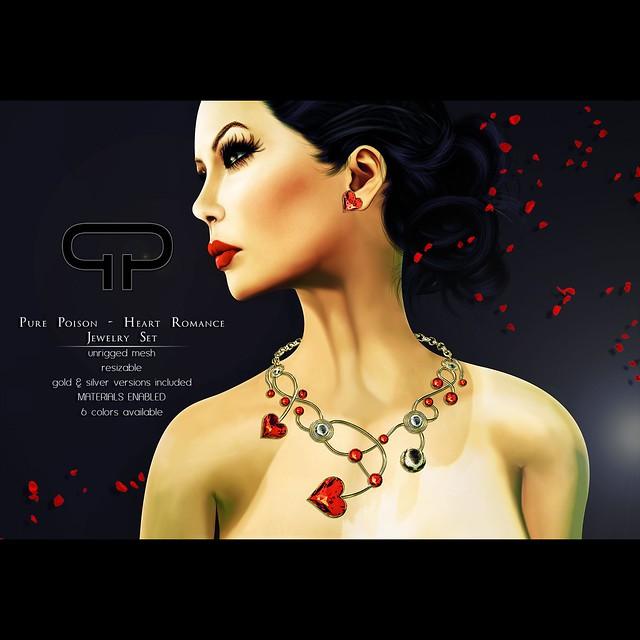 Pure Poison - Heart Romance Jewelry Set