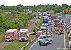 Auffahrunfall A60 Mainz-Finthen 13.08.13