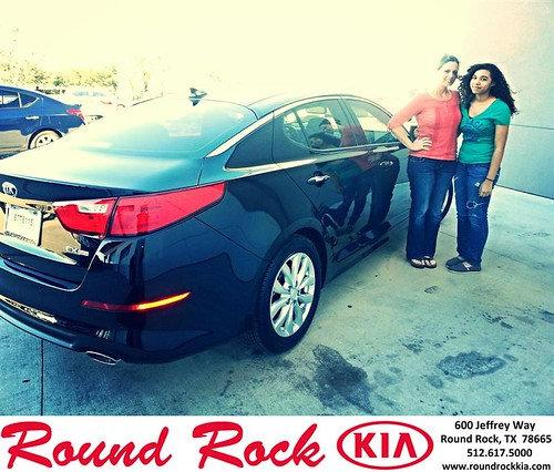 Thank you to Regina Key on your new 2014 #Kia #Optima from Kelly  Cameron and everyone at Round Rock Kia! #NewCarSmell by RoundRockKia