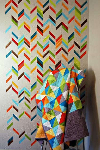 Healing Quilt and Herringbone Wall