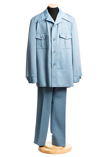 Polyester double knit leisure suit
