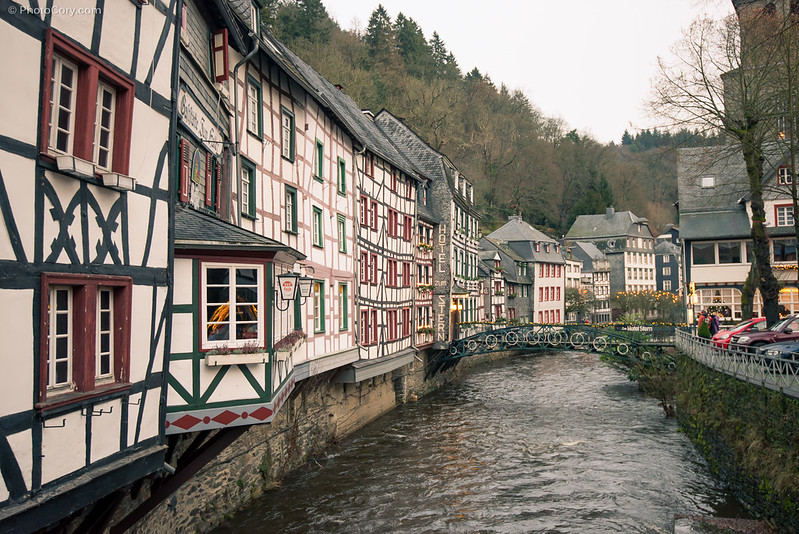 river rur half-timbered houses