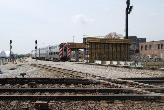 Inbound Metra train