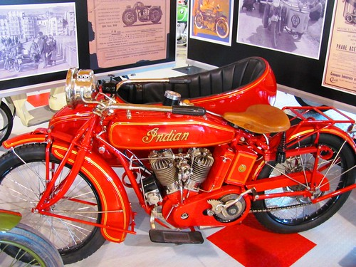 Pyrenees, Motorcycle Museum Oliana Spain Indian w/ Side Car