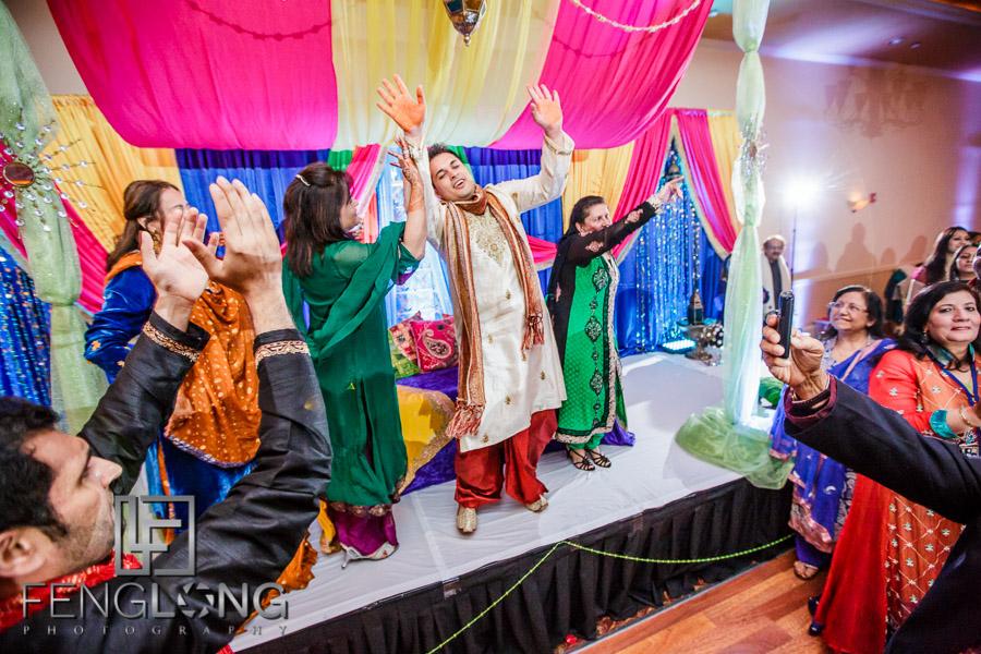Bride's entrance during Sangeet Pithi ceremony
