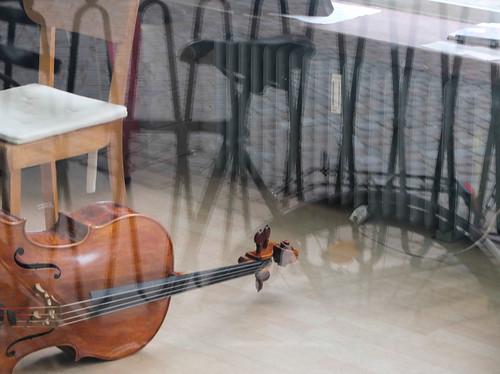 Cello & Bike by Simon Sharville