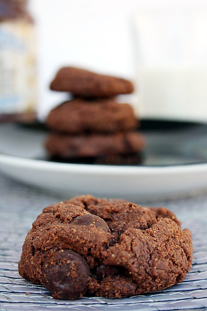 Flourless Dark Chocolate Peanut Butter Cookies