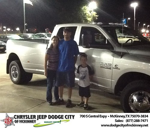 Thank you to Jeff & Shana Welborn on your new 2013 #Ram #3500 from Joe Ferguson  and everyone at Dodge City of McKinney! #RollingInStyle by Dodge City McKinney Texas