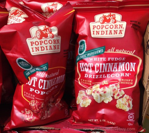 Popcorn, Indiana Hot Cinnamon Popcorn and White Fudge Hot Cinnamon Drizzlecorn