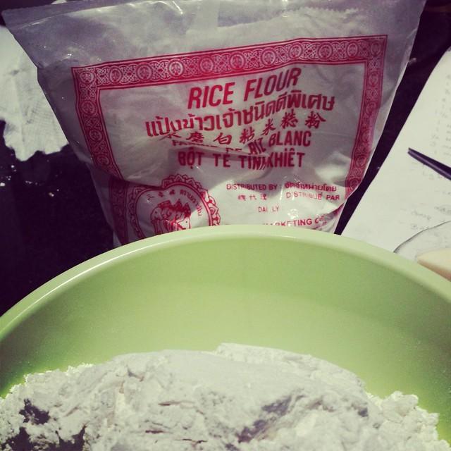 Butter Mochi rice flour