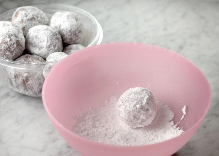 Powdered sugar coated