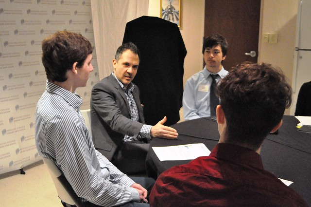 Local High School Students Attend the Press Conference with Platon, Sarasota, Fla., Jan. 27, 2014