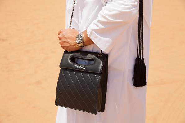 Chanel bag at Dubai Desert Conservation Reserve