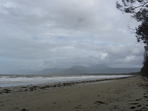 a stormy beach