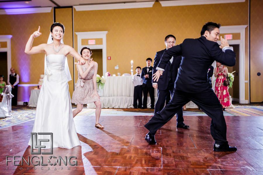 Wedding party dances to Gangnam Style