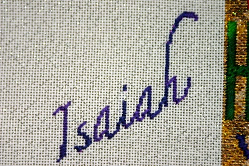 Isaiah 41:10 Isaiah stitched by Carmen CS