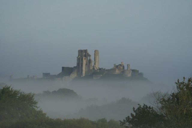Corfe Castle In The Mist
