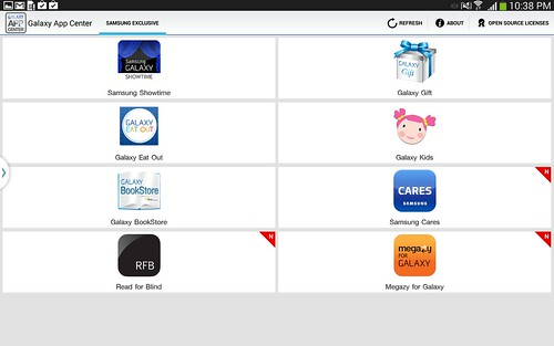Galaxy App Center บน Samsung Galaxy Note 10.1 2014 Edition