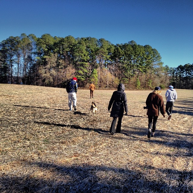 In the field with dogs. #christmas #latergram Missing @kelseyfgray and @alexlemondegray