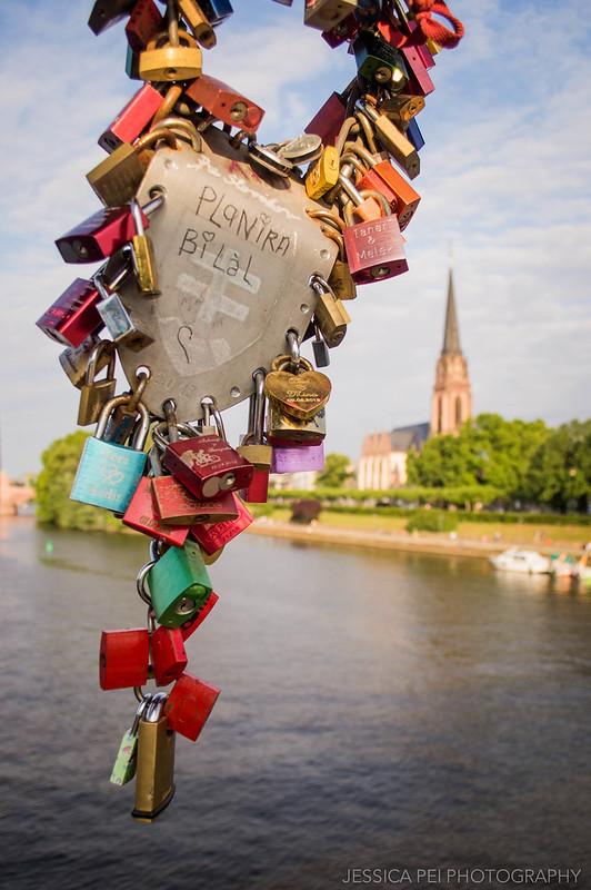 Eiserner Steg Love Lock Bridge Frankfurt