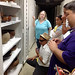 The University of Hawaii delegation was treated to a special visit to the archives of the Smithsonian's Natural History and Anthropology Collections. A Smithsonian guide describes the derivation of carved wooden bowls from Hawaii, early to mid 1800s.
