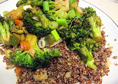 Broccoli Stir Fry with Quinoa