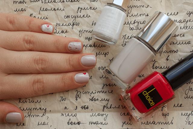 01 love letter clinique concrete jungle + mavala white