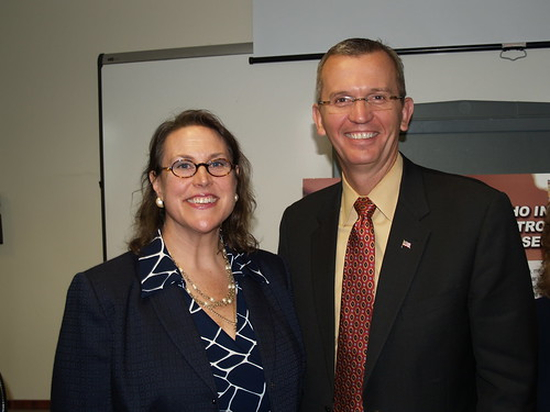 Amy Whitcomb Slemmer and Secretary John Polanowicz