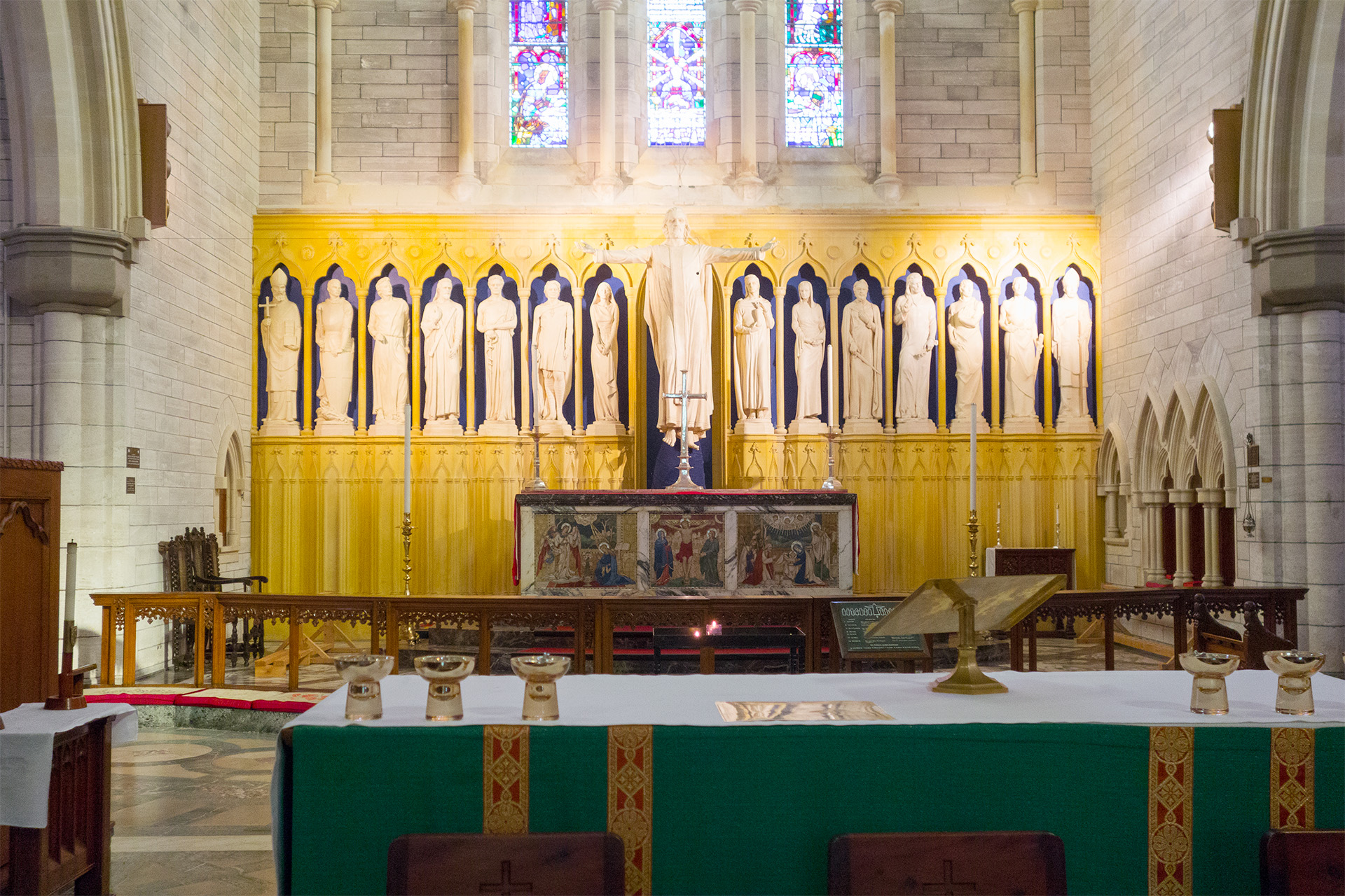 Inside Bermuda Anglican Cathedral.