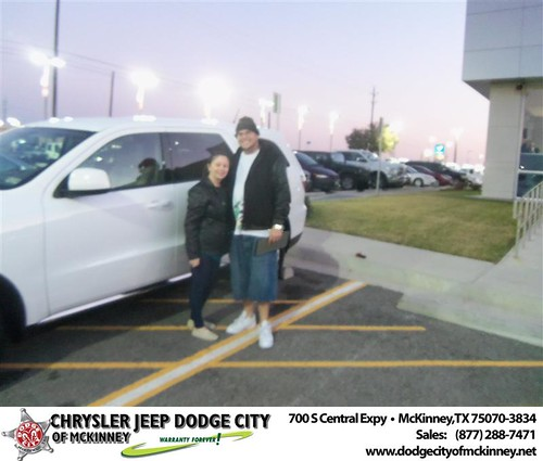Happy Anniversary to Eric S Pabon on your 2013 #Dodge #Durango from Henry Adologiogie  and everyone at Dodge City of McKinney! #Anniversary by Dodge City McKinney Texas