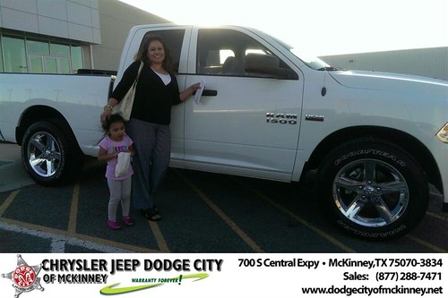Thank you to Yolanda Coronado on your new 2014 #Ram #1500 from Joe Ferguson  and everyone at Dodge City of McKinney! #NewCarSmell by Dodge City McKinney Texas