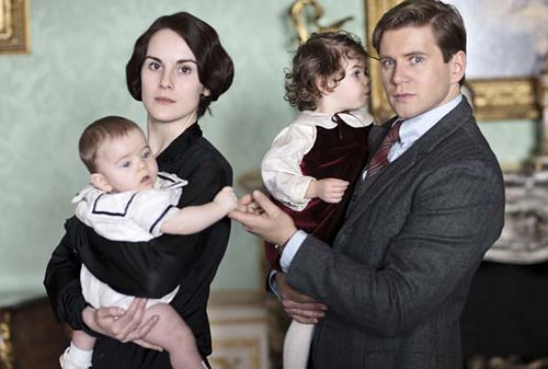 Downton Abbey 4, Lady Mary and Branson and children