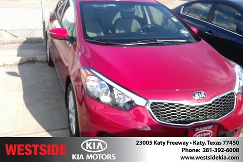 Thank you to Iris Jimenez on your new 2014 Kia Forte from Orlando Baez and everyone at Westside Kia! by Westside KIA