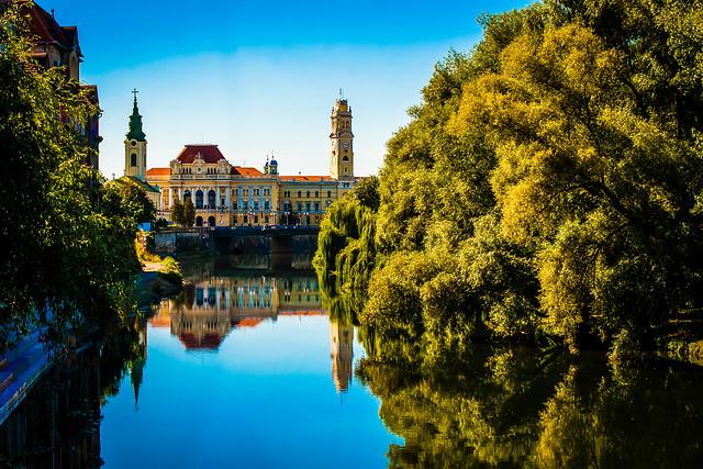 Oradea, Romania, Crisul Repede, Primaria, City Hall