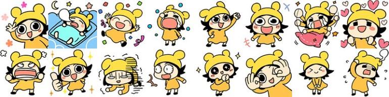 05_WeChat超可愛萌妹「咕咪」付費貼圖,各種喜怒哀樂的超實用心情寫照,讓你表達情緒無障礙!