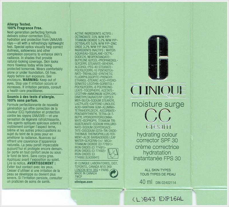 Clinique CC Cream ingredients