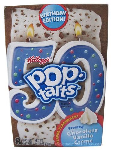 Kellogg's Birthday Edition Flavor Flashback Frosted Chocolate Vanilla Creme Pop-Tarts