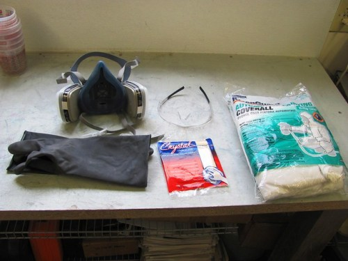 Protection Supplies for Painting (and a Tack Cloth for Cleaning Parts)